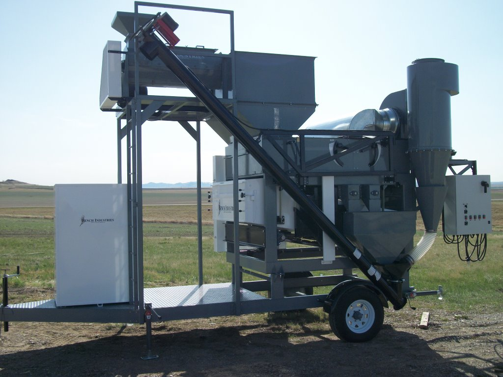 grain cleaner, double sift, seed cleaner, mobile screen